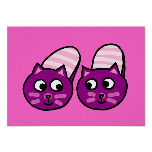 Deslizadores púrpuras de los mininos posters