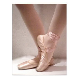 Deslizadores rosados del ballet tarjeta postal