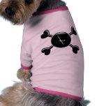 Deslizamiento de la bandera pirata camiseta de perro