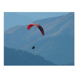 Deslizamiento de Para del Paragliding del ala Tarjeta Postal