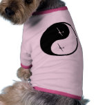 Deslizamiento de Yin Yang Camisetas Mascota