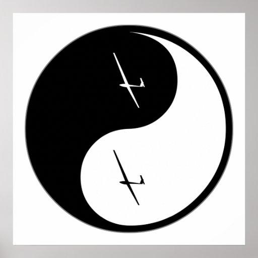 Deslizamiento de Yin Yang Posters