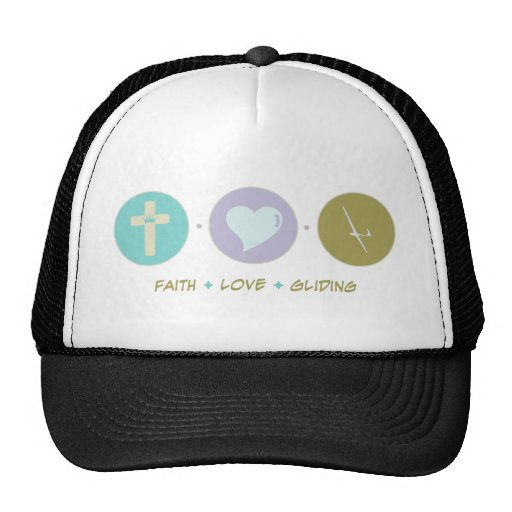 Deslizamiento del amor de la fe gorras