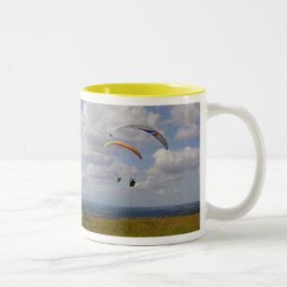 Deslizamiento en tándem taza de café de dos colores