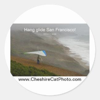 ¡Deslizamiento San Francisco de la caída! Etiquetas Redondas