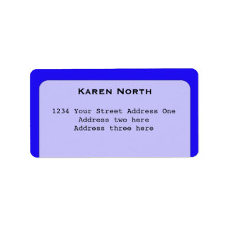 Deslumbramiento azul etiqueta de dirección