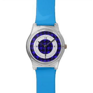 Deslumbramiento azul reloj de mano