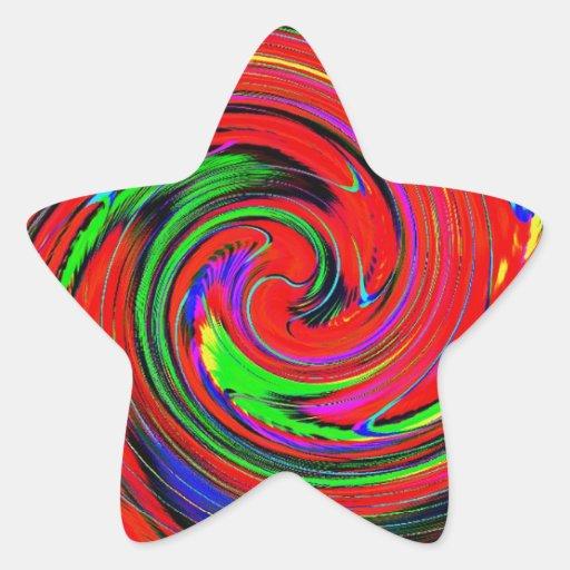 Deslumbramiento, brillante. alegre, colorido, pegatina en forma de estrella