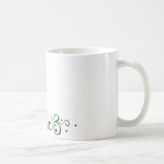Deslumbramiento del acebo taza básica blanca