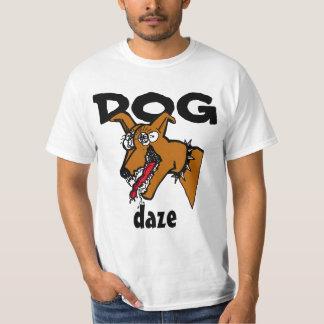 Deslumbramiento del perro de la camiseta del remera