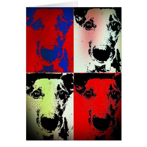 Deslumbramiento del perro tarjeta de felicitación