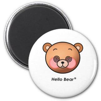 Deslumbramiento divertido del oso del hola imán de frigorífico