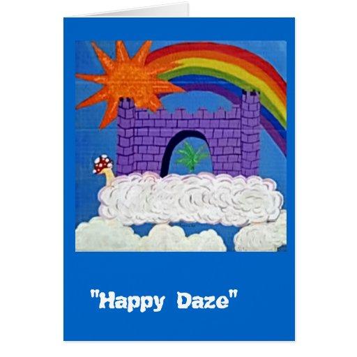 Deslumbramiento feliz tarjeta
