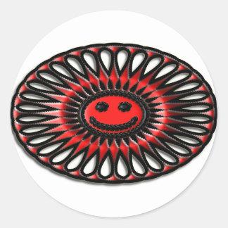 Deslumbramiento oval #1 pegatinas