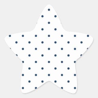 Deslumbramiento Polkadots azul pequeño Pegatina En Forma De Estrella