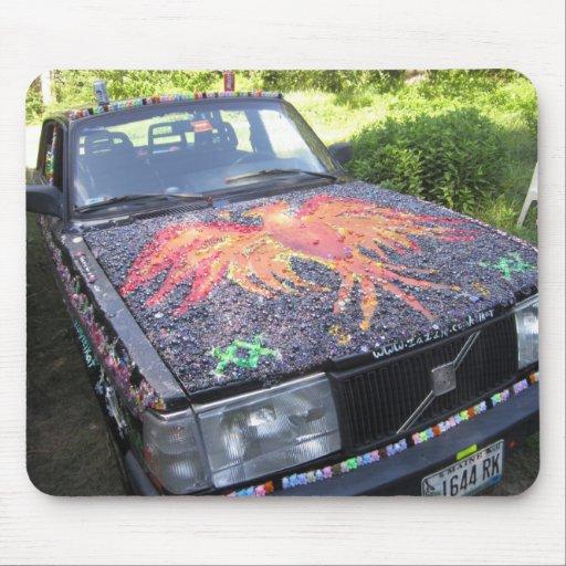 Deslumbramiento Razzberry - coche de la conciencia Tapete De Raton