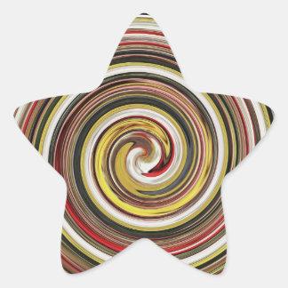 deslumbre al pegatina de la estrella