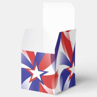 Deslúmbreme caja patriótica del favor - día de cajas para regalos de boda