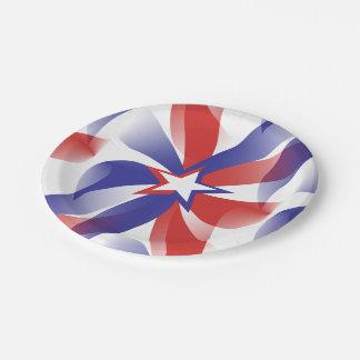 Deslúmbreme patriótico plato de papel 17,78 cm