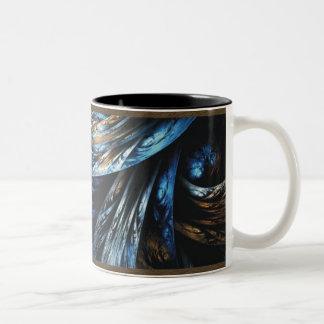 Deslustre en taza azul