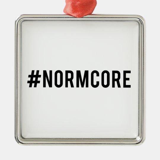desmenuce el normcore de la etiqueta, arte de la adorno navideño cuadrado de metal