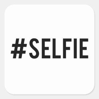 Desmenuce el selfie de la etiqueta, arte de la pegatina cuadrada