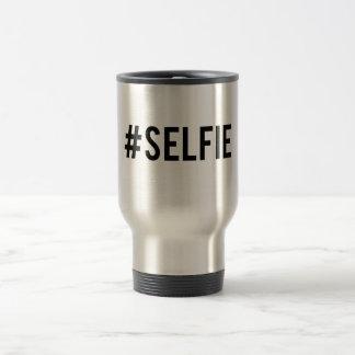 Desmenuce el selfie de la etiqueta, arte de la taza de café