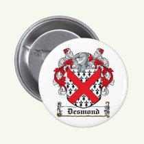 Desmond Family Crest Button