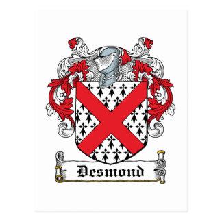 Desmond Family Crest Postcard