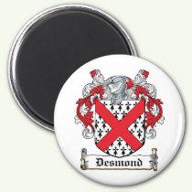 Desmond Family Crest Magnet