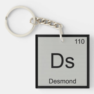 Desmond Name Chemistry Element Periodic Table Keychain