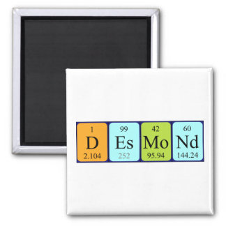 Desmond periodic table name magnet