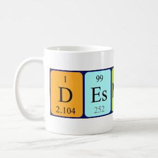 Desmond periodic table name mug