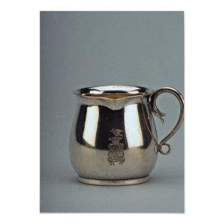 Desnatadora de plata del siglo XIX, Viena, Austria Invitación 12,7 X 17,8 Cm