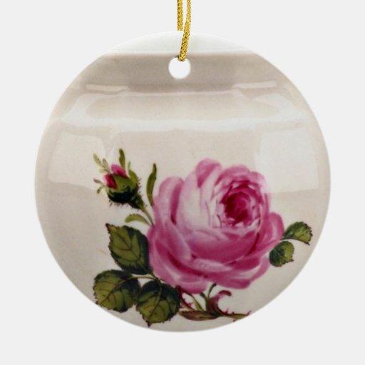 Desnatadora del siglo XIX, Meissen, flores de Alem Ornamentos De Navidad