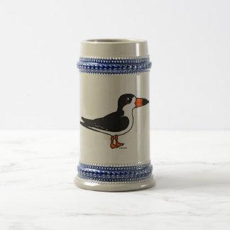 Desnatadora negra de Birdorable Jarra De Cerveza