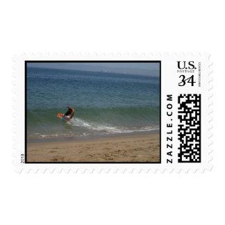 Desnatar la resaca sello postal