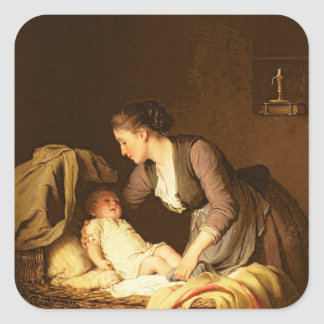 Desnudar al bebé, 1880 calcomanías cuadradass personalizadas