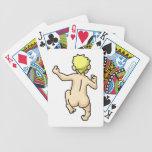 Desnudo corriente barajas de cartas