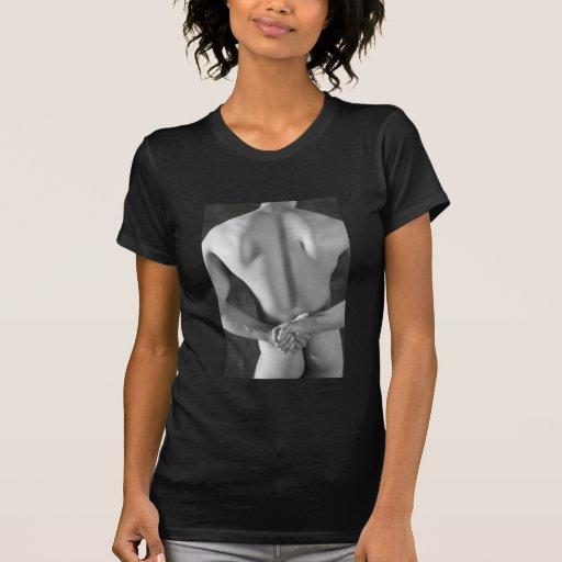 "Desnudo del individuo, arte clasificado ""x"", camiseta"