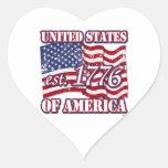 Desolación de la bandera de los Estados Unidos de  Calcomania Corazon Personalizadas