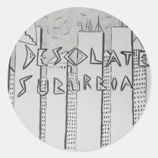 Desolate Suburbia Classic Round Sticker