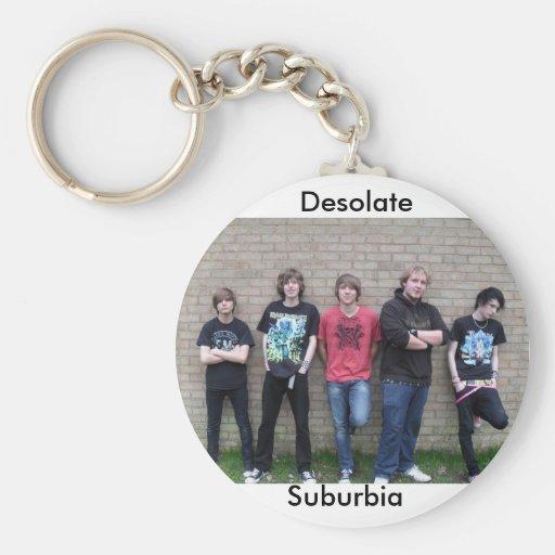 Desolate Suburbia Key chain With Band Photo