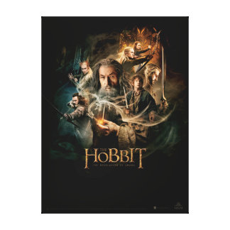 Desolation of Smaug Characters 2 Canvas Print