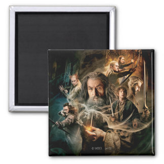 Desolation of Smaug Characters 2 2 Inch Square Magnet
