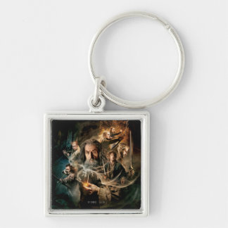 Desolation of Smaug Characters 2 Silver-Colored Square Keychain