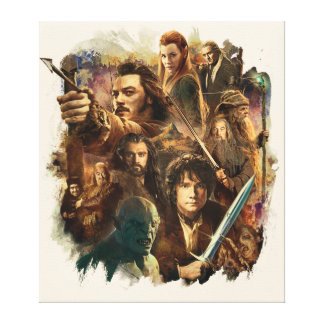 Desolation of Smaug Characters Canvas Print