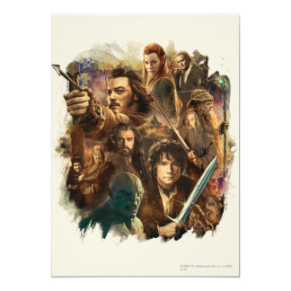 Desolation of Smaug Characters 5x7 Paper Invitation Card