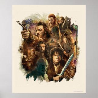 Desolation of Smaug Characters Print