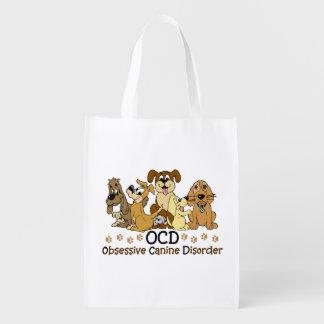 Desorden canino obsesivo de OCD Bolsa Para La Compra